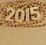 figuras de oro de 2015 años Fotos de archivo libres de regalías
