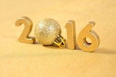 figuras de oro de 2016 años Imágenes de archivo libres de regalías