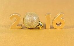 figuras de oro de 2016 años Foto de archivo libre de regalías