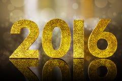 figuras de oro de 2016 años Imagenes de archivo