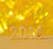 figuras de oro de 2016 años Fotos de archivo