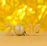 figuras de oro de 2016 años Imagen de archivo libre de regalías