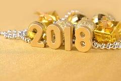 figuras de oro de 2018 años Imagen de archivo libre de regalías