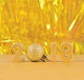 figuras de oro de 2018 años Imagen de archivo