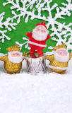 Figuras de Papá Noel Foto de archivo libre de regalías