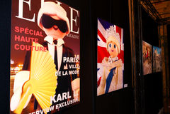Figuras de Playmobil de celebridades reais como cartazes Foto de Stock Royalty Free