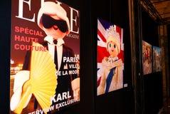 Figuras de Playmobil de celebridades reales como carteles Foto de archivo libre de regalías