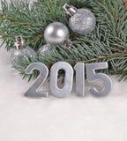 figuras de prata de 2015 anos Imagem de Stock Royalty Free