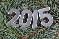 figuras de prata de 2015 anos Imagem de Stock