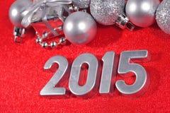 figuras de prata de 2015 anos Imagens de Stock Royalty Free