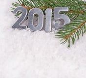 figuras de prata de 2015 anos Imagens de Stock