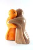 Figuras de sal e de pimenta fotografia de stock