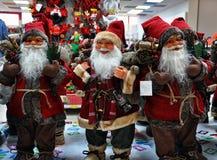 Figuras de Santa Claus Imagem de Stock Royalty Free