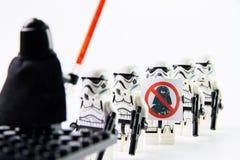 Figuras de Stomtrooper de la película de Star Wars del lego las mini Fotos de archivo