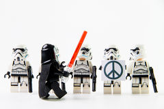 Figuras de Stomtrooper de la película de Star Wars del lego las mini Fotografía de archivo