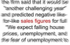 Figuras de vendas Foto de Stock