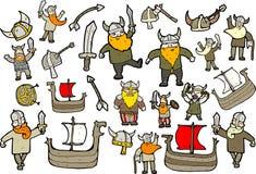 Figuras de Vikingo Imágenes de archivo libres de regalías