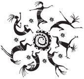 Figuras del baile en un círculo ilustración del vector