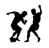 Figuras del fútbol en la acción stock de ilustración
