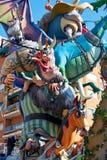 Figuras del fest de Fallas en Valencia España tradicional Foto de archivo