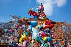 Figuras del fest de Fallas en Valencia España tradicional Fotografía de archivo libre de regalías