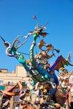 Figuras del fest de Fallas en Valencia España tradicional Imágenes de archivo libres de regalías