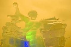 Figuras del hielo en Moscú Modelo de la estatua de la patria Fotografía de archivo libre de regalías