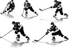 Figuras del hockey sobre hielo stock de ilustración