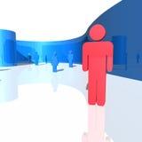 figuras del humanoid 3d Uno diferente de los otros libre illustration