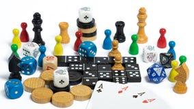 Figuras del juego de mesa Fotografía de archivo
