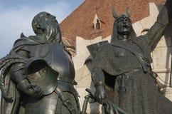 Figuras del monumento de la conmemoración, Cluj Napoca Fotos de archivo libres de regalías