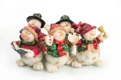 Figuras del muñeco de nieve imagen de archivo libre de regalías