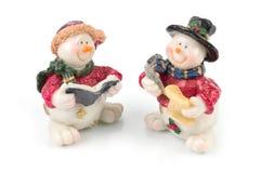 Figuras del muñeco de nieve foto de archivo libre de regalías