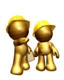 Figuras del oro que trabajan junto ilustración del vector