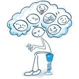 Figuras del palillo con muchas diversas emociones libre illustration