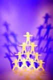 Figuras del recorte en pirámide   fotografía de archivo