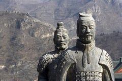 Figuras del soldado y de la arcilla de los caballos Foto de archivo libre de regalías