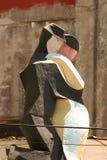 Figuras del tango del tejado imagen de archivo libre de regalías