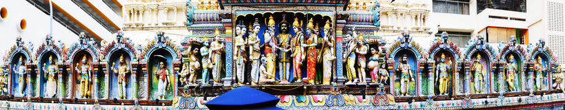 Figuras del templo de Sri Krishnan Imagenes de archivo