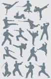 Figuras del vector del karate Imagen de archivo libre de regalías