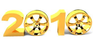 Figuras do ano novo de vinda Imagens de Stock Royalty Free