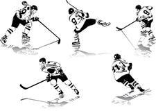 Figuras do hóquei de gelo Fotos de Stock Royalty Free