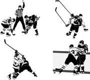 Figuras do hóquei de gelo Fotografia de Stock