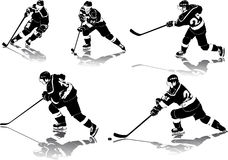 Figuras do hóquei de gelo Foto de Stock Royalty Free