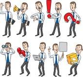 Figuras do homem de negócios dos desenhos animados ilustração royalty free