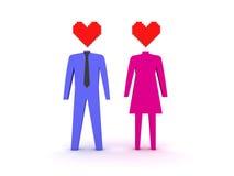 Figuras do homem e da fêmea no amor. Fotos de Stock Royalty Free