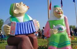 Figuras do homem e da mulher Foto de Stock Royalty Free
