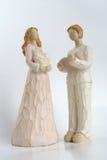 Figuras do homem e das mulheres Foto de Stock Royalty Free