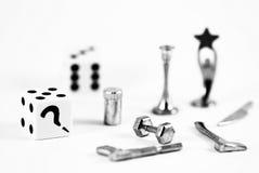 Figuras do jogo de mesa fotografia de stock royalty free