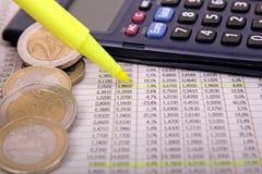 Figuras do mercado de valores de acção Fotografia de Stock